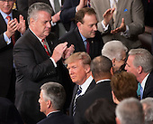 United States President Donald J. Trump arrives to address a joint session of Congress on Capitol Hill in Washington, DC, February 28, 2017. <br /> Credit: Chris Kleponis / CNP
