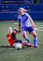 Rochester, NY - May 21, 2016: Sky Blue FC forward  Leah Galton (21) in action during a National Women's Soccer League (NWSL) match at Sahlen's Stadium. The Western New York Flash go on to win 5-2.