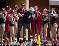 STANFORD, CA - March 23, 2019: John Tanner at Avery Aquatic Center. The #2 Stanford Cardinal took down the #18 Harvard Crimson 20-7.