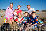 Ursula O'Keeffe, Dylan Keogh, Marie Keogh, Joey  Keogh, Kieran Keogh Joe Keogh and Aaron Keogh, Tralee and Newcastle West, enjoying the sunshine at Banna Beach on Monday evening last.