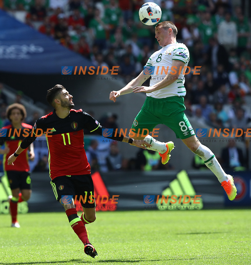 Yannick Carrasco Belgium and James McCarthy Ireland<br /> Bordeaux 18-06-2016 Nouveau Stade Footballl Euro2016 Belgium - Republic of Ireland  / Belgio - Irlanda Group Stage Group E. Foto Matteo Ciambelli / Insidefoto