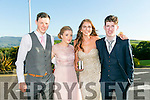 Enjoying the Killarney Schools Debs at Ballyroe Heights Hotel on Monday were l-r  Eoin Cronin, Keeley O'Connor, Saoirce Willis and Oscar O'Connor.