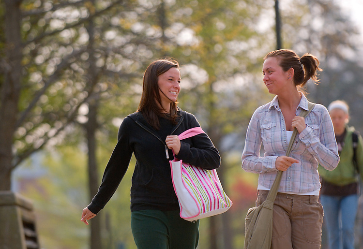 18165Campus Students Spring: Emeriti Park..Ashley McGraw & Ashley Keister