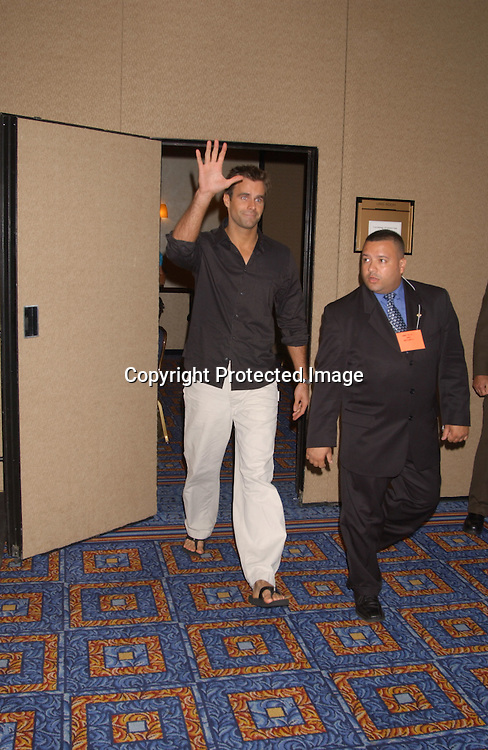 Cameron Mathison                                ..at the All My Children Fan Club Luncheon on August 10, 2003 at the Marriott Marquis in New York.                           Photo by Robin Platzer, Twin Images
