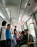 MALAYSIA, Kuala Lumpur, passengers traveling in monorail