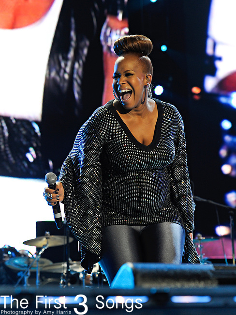 "Trecina ""Tina"" Atkins-Campbell of Mary Mary performs at the 2012 Essence Music Festival on July 7, 2012 in New Orleans, Louisiana at the Louisiana Superdome."