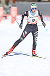 Ilaria Debertolis in action at the sprint qualification of the FIS Cross Country Ski World Cup  in Dobbiaco, Toblach, on January 14, 2017. Credit: Pierre Teyssot