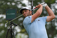 Jon Rahm (ESP) watches his tee shot on 8 during Rd3 of the 2019 BMW Championship, Medinah Golf Club, Chicago, Illinois, USA. 8/17/2019.<br /> Picture Ken Murray / Golffile.ie<br /> <br /> All photo usage must carry mandatory copyright credit (© Golffile   Ken Murray)