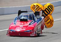 Apr. 2, 2011; Las Vegas, NV, USA: NHRA funny car driver Jeff Diehl during qualifying for the Summitracing.com Nationals at The Strip in Las Vegas. Mandatory Credit: Mark J. Rebilas-