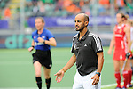 The Hague, Netherlands, June 10: Head coach Jamilon Muelders of Germany gestures during the field hockey group match (Women - Group B) between Germany and England on June 10, 2014 during the World Cup 2014 at Kyocera Stadium in The Hague, Netherlands. Final score 1-3 (0-0) (Photo by Dirk Markgraf / www.265-images.com) *** Local caption ***