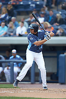 Reynaldo Rivera (14) of the West Michigan Whitecaps at bat against the South Bend Cubs at Fifth Third Ballpark on June 10, 2018 in Comstock Park, Michigan. The Cubs defeated the Whitecaps 5-4.  (Brian Westerholt/Four Seam Images)