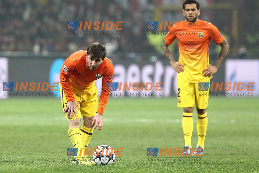 """Lionel Messi Barcellona..Milano 20/02/2013 Stadio """"S.Siro""""..Football Calcio UEFA Champions League 2012/13..Milan vs Barcellona..Foto Insidefoto Paolo Nucci.."""