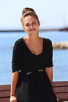"Pauline Burlet ( Belgian actress )  attends the "" Résistance "" photocall at the MipTV - Cannes"