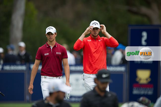 Thomas Detry (BEL) Thomas Pieters (BEL) during the final round of the World Cup of golf,  The Metropolitan Golf Club, The Metropolitan Golf Club, Victoria, Australia. 25/11/2018<br /> Picture: Golffile | Anthony Powter<br /> <br /> <br /> All photo usage must carry mandatory copyright credit (© Golffile | Anthony Powter)
