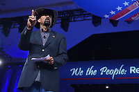 National Harbor, MD - February 23, 2017: Sheriff David Clarke speaks to attendees of the Conservative Political Action Conference at the Gaylord Hotel in National Harbor, MD, February 23, 2017.  (Photo by Don Baxter/Media Images International)