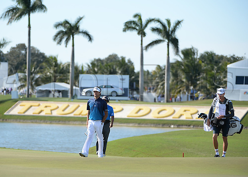 06.03.2016. Doral, Florida, USA.   Bubba Watson walks to the 9th green  during the final round of the World Golf Championships-Cadillac Championships - Final Round at Trump National Doral in Doral, FL