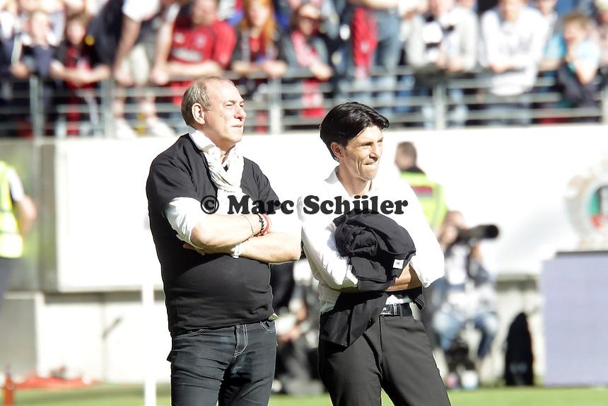 Praesident Peter Fischer und Sportmanager Bruno Hübner (Eintracht)