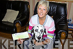 LUCKY DOG: Killorglin woman, Letitia Linfield with her Dalmatian dog, Dexter, who has been selected to star on a limited edition 'Lucky Dog' scrathcard from the National Lottery.