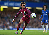 30th September 2017, Stamford Bridge, London, England; EPL Premier League football, Chelsea versus Manchester City; Leroy Sane of Manchester City of Manchester City in action