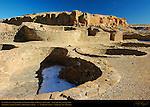 Plaza Kivas, Chetro Ketl Chacoan Great House, Anasazi Hisatsinom Ancestral Pueblo Site, Chaco Culture National Historical Park, Chaco Canyon, Nageezi, New Mexico