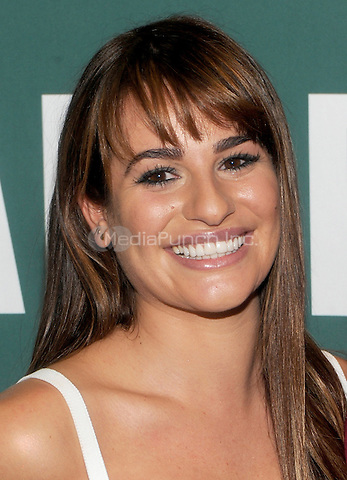 "New York, NY- May 21: Actress and singer Lea Michele attends a book signing for her new book ""Brunette Ambition""  on May 21, 2014 at Barnes and Noble Union Square in New York City. Credit: John Palmer/MediaPunch"