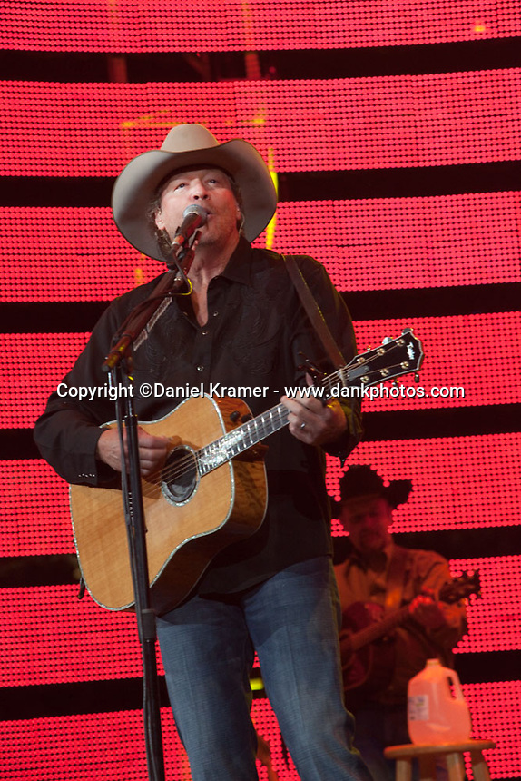 Alan Jackson performs at RodeoHouston at Reliant Stadium on March 18, 2012