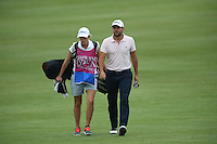 Carlos Del Moral (ESP) and caddie girlfriend reach the last during Round Three of The Tshwane Open 2014 at the Els (Copperleaf) Golf Club, City of Tshwane, Pretoria, South Africa. Picture:  David Lloyd / www.golffile.ie