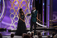 Idris Elba introduces his daughter, Isan Elba, as the 2019 Golden Globe Ambassador during the 76th Annual Golden Globe Awards at the Beverly Hilton in Beverly Hills, CA on Sunday, January 6, 2019.<br /> *Editorial Use Only*<br /> CAP/PLF/HFPA<br /> Image supplied by Capital Pictures