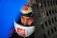 Sept. 27, 2008; Kansas City, KS, USA; Nascar Sprint Cup Series driver Joey Logano during practice for the Camping World RV 400 at Kansas Speedway. Mandatory Credit: Mark J. Rebilas-
