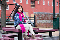 Karonika Brown, 34, graduated with a degree with an Associates Degree in Liberal Arts and Sciences from Middlesex Community College in 2016, and continues to take classes there and work as a writing tutor for other students. Brown is an immigrant from Cambodia. She is seen here outside Middlesex Community College in Lowell, Mass., USA, on Thurs., Feb. 15, 2018.