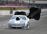 May 15, 2015; Commerce, GA, USA; NHRA pro stock driver Jonathan Gray  during qualifying for the Southern Nationals at Atlanta Dragway. Mandatory Credit: Mark J. Rebilas-USA TODAY Sports