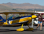 A photograph taken during the National Championship Air Races in Reno, Nevada on Wednesday, September 13, 2017.