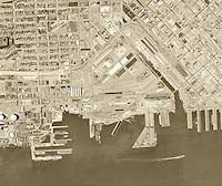 historical aerial photograph Mission Bay, San Francisco, 1968