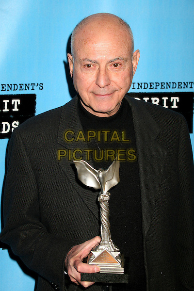 ALAN ARKIN.The 2007 Independent Spirit Awards held on the Santa Monica Pier, Santa Monica, California, USA,.24 February 2007..pressroom press room half length trophy award.CAP/ADM/BP.©Byron Purvis/AdMedia/Capital Pictures.
