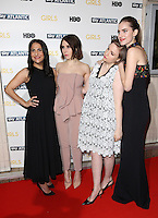 Jenni Konner, Zosia Mamet, Lena Dunham, Allison Williams arriving for the Girls - UK premiere of the third series held at the Cineworld Haymarket - Arrivals, London. 15/01/2014 Picture by: Henry Harris / Featureflash