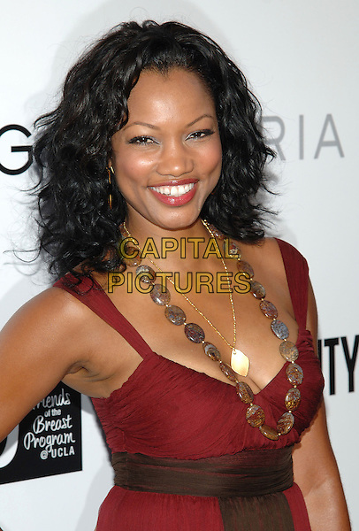 GARCELLE BAUVAIS-NILON.At The opening party for the BCBG Max Azria flagship store, Rodeo Drive,.Beverly Hills, 18th August 2005.portrait headshot red chiffon dress bead necklace clutch bag.www.capitalpictures.com.sales@capitalpictures.com.© Capital Pictures.
