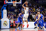 Real Madrid's Dontaye Draper and Anadolu Efes's Bryant Dunston during Turkish Airlines Euroleague match between Real Madrid and Anadolu Efes at Wizink Center in Madrid, April 07, 2017. Spain.<br /> (ALTERPHOTOS/BorjaB.Hojas)