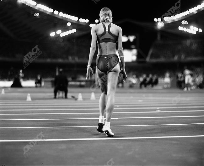 Ukrainian women's High Jumper, Summer Olympics, Athens, Greece, August, 2004.