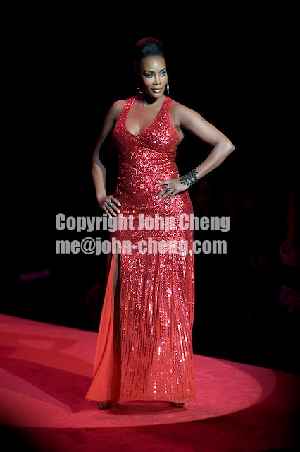 2/13/09 - Photo by John Cheng.  Vivica A. Fox walks down the runway at the Red Dress Collection Fashion Show in Bryant Park, New York.  February is National Heart Month, and the fashion show is part of the month-long activities to raise women?s heart disease awareness.