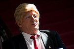 "Javier Gurruchaga carazterized as american president Donald Trump during the presentation of the family cycle ""Matinal Estelar"" at Teatro La Latina in Madrid. March 09, 2017. (ALTERPHOTOS/Borja B.Hojas)"
