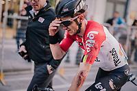 Jasper de Buyst (BEL/Lotto-Soudal) crashed in the race finale<br /> <br /> 109th Milano-Sanremo 2018<br /> Milano > Sanremo (291km)