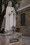 Israel, Haifa, a statue at the Carmelite Stella Maris Monastery on Mount Carmel