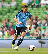 June 4th 2017, Aviva Stadium, Dublin, Ireland; International football friendly, Republic of Ireland versus Uruguay; Cristhian Stuani on an attacking run for Uruguay
