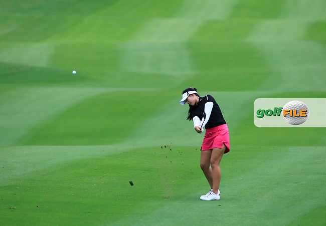 Pajaree Anannarukarn (THA) on the 10th fairway during Round 1 of the Honda LPGA Thailand on Thursday 23rd February 2017.<br /> Picture:  Thos Caffrey / Golffile