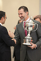 King Felipe VI of Spain during the 2013 Sports National Awards ceremony at El Pardo palace in Madrid, Spain. December 03, 2014. (ALTERPHOTOS/Victor Blanco)