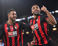Callum Wilson of AFC Bournemouth  celebrates his goal with Joshua King of AFC Bournemouthduring AFC Bournemouth vs Huddersfield Town, Premier League Football at the Vitality Stadium on 4th December 2018