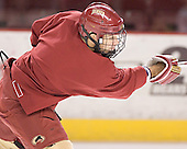 Ted O'Leary - Reigning national champions (2004 and 2005) University of Denver Pioneers practice on Friday morning, December 30, 2005 before hosting the Denver Cup at Magness Arena in Denver, CO.