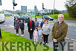 Liam Grimes and fellow residents of Ballydribbeen Killarney l-r: Eibhlin Ní Chathain, Sofia Sharma, Afzal Syed, Craig O'Riordan, Mark and Ann Marie O'Sullivan, Martina O'Riordan, Carmel Lannigan who are prostesting against the dangerous roads and junctions around their estate