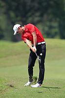 Haotong Li (CHN) in action on the 2nd fairway during Round 1 of the Maybank Championship at the Saujana Golf and Country Club in Kuala Lumpur on Thursday 1st February 2018.<br /> Picture:  Thos Caffrey / www.golffile.ie<br /> <br /> All photo usage must carry mandatory copyright credit (&copy; Golffile | Thos Caffrey)
