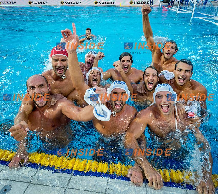 Team ITA<br /> Italy (White) Vs Montenegro (Blue) Men<br /> LEN European Water Polo Championships 2014 - July 14-27<br /> Alfred Hajos - Tamas Szechy Swimming Complex<br /> Margitsziget - Margaret Island<br /> Day14 - July 27<br /> Photo Giorgio Scala/Inside/